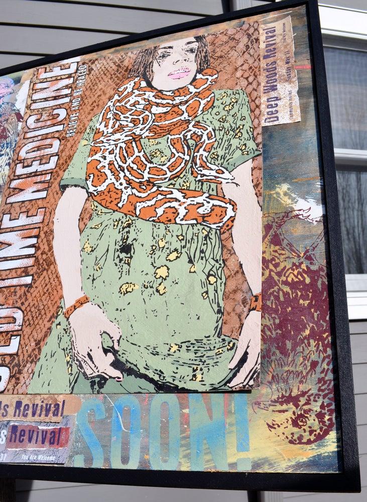 Image of Faith Healer Snake Charmer Painting