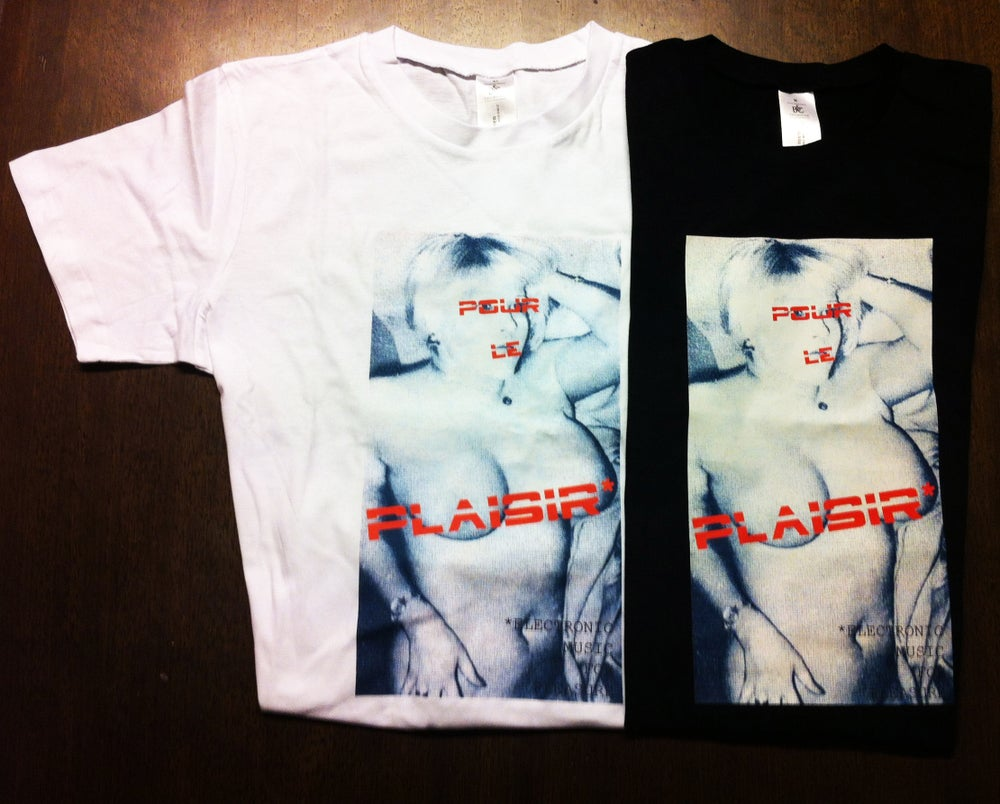 Image of  black & white *POUR LE PLAISIR Tee Shirt