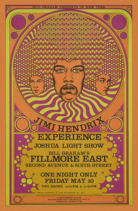 Image of Jimi Hendrix Experience at the Fillmore East 1968