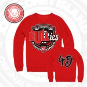 Image of The Bullies - Chicago bulls - red - Double Nickel -Crew Neck