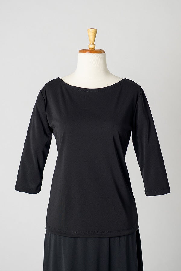 Image of Jersey Boat Neck Top