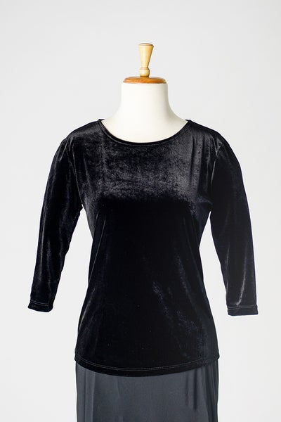 Image of Velvet Round Neck Top
