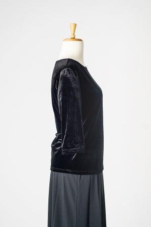 Image of Velvet Round Neck Top