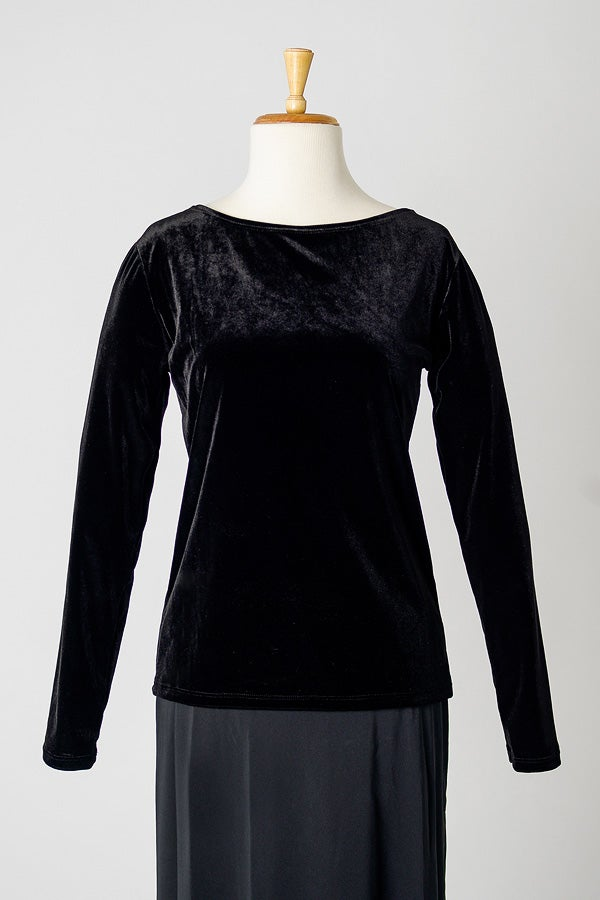 Image of Long Sleeve Boat Neck Top