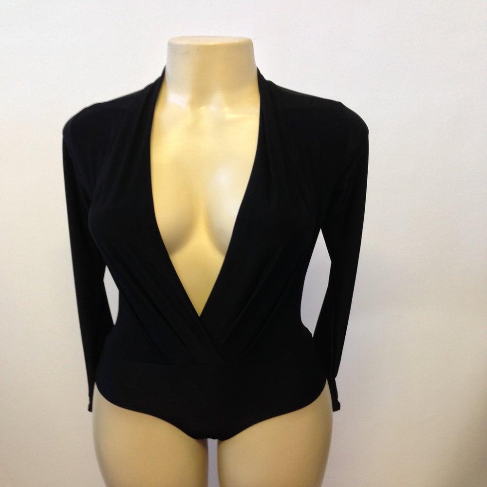 Image of Black stretch bodysuit