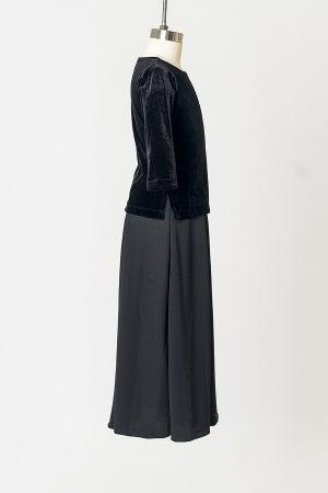 Image of Girls' Black Velvet Tunic Top