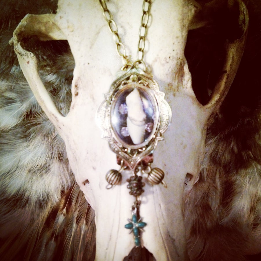 Image of Human tooth reliquary necklace
