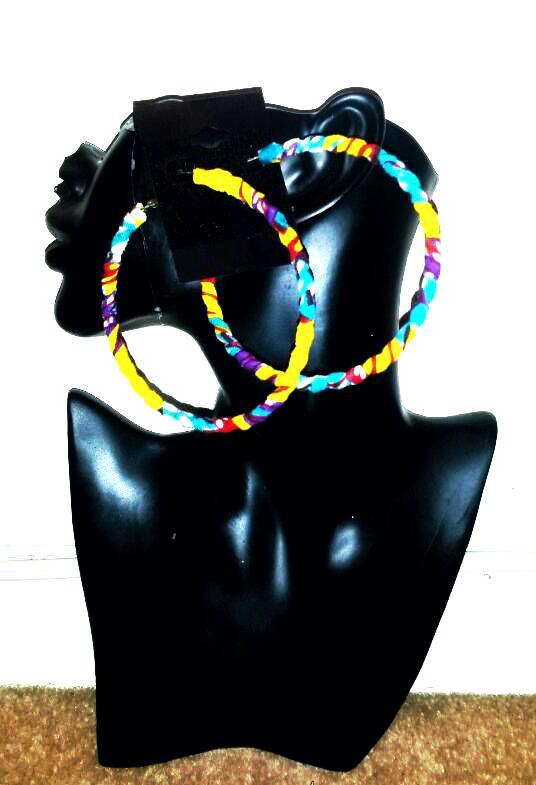 Image of Vekras Multicoloured Hoop Earrings