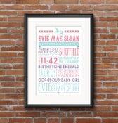 Image of Personalised Baby Words Print
