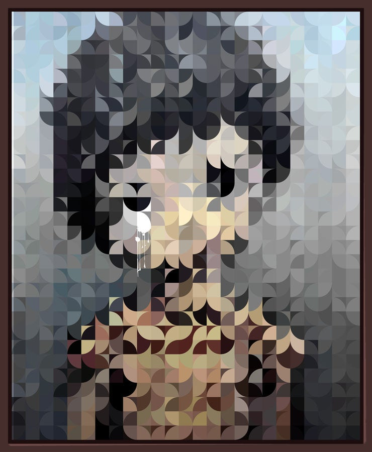 Image of Squint Abstract Print Big Eye Boy