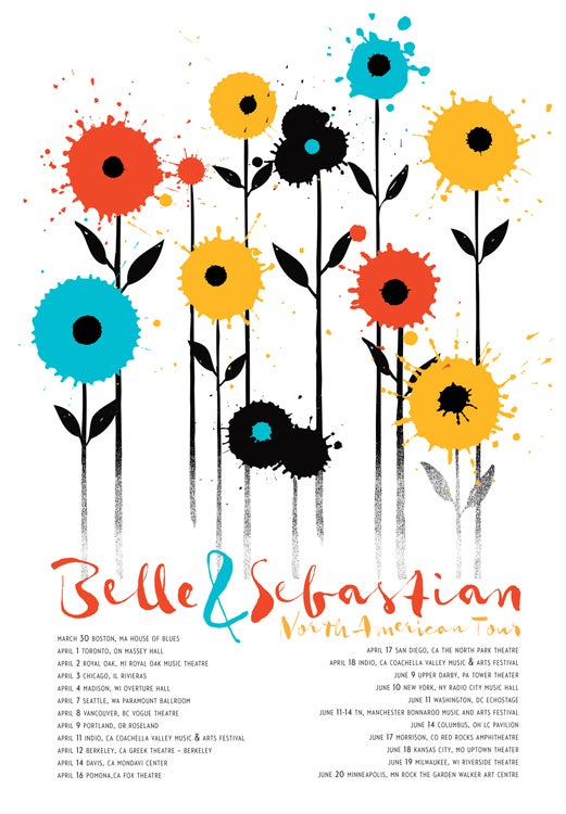 Image of Belle & Sebastian 2015 Tour Poster