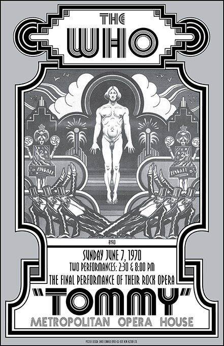 "Image of The WHO • ""TOMMY"" at the Met - Alternate B&W Poster 1970"