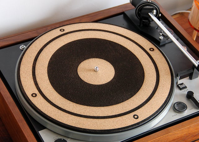 Image of Handmade Engraved Cork Anti-Static Turntable Slipmat