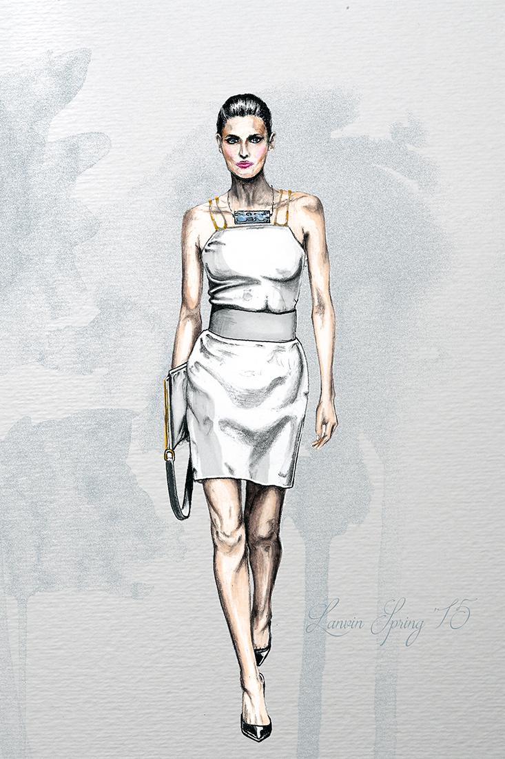 Image of Lanvin Spring 2015 Illustration