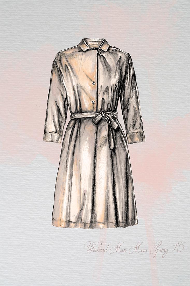 Image of MaxMara Spring 2015 Illustration