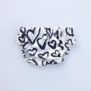Image of ORganic cotton brushed heart bloomer