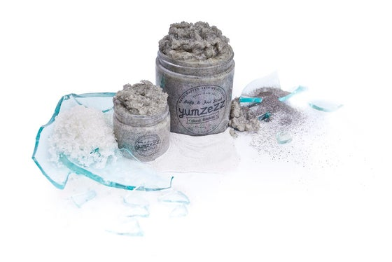 Image of DARK WATERS DEAD SEA SALT & BLACK SAND BODY & FOOT SCRUB (multiple sizes)