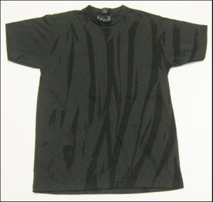 "Image of MJL ""Abstract Flaps"" Heather Charcoal T-Shirt"