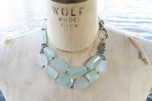 Image of Sea Green Double Chacedony Choker