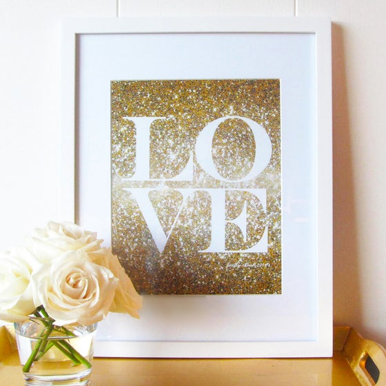 Image of Glitter Love Print
