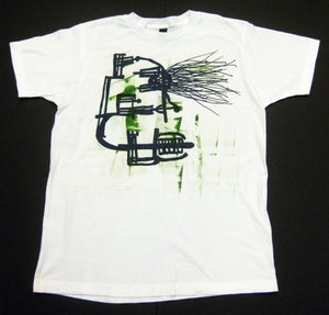 """Image of MJL """"Abstract Kelly Lines Eye Face"""" White T-Shirt"""