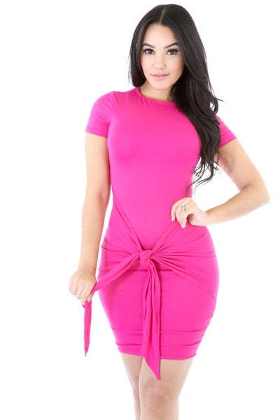 Image of pink knot dress