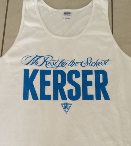 Image of NO REST MENS TANK WHITE (FINAL STOCK)