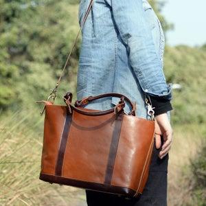 Image of Women's Handmade Leather Handbag / Purse / Shoulder Bag / Messenger Bag (m19)