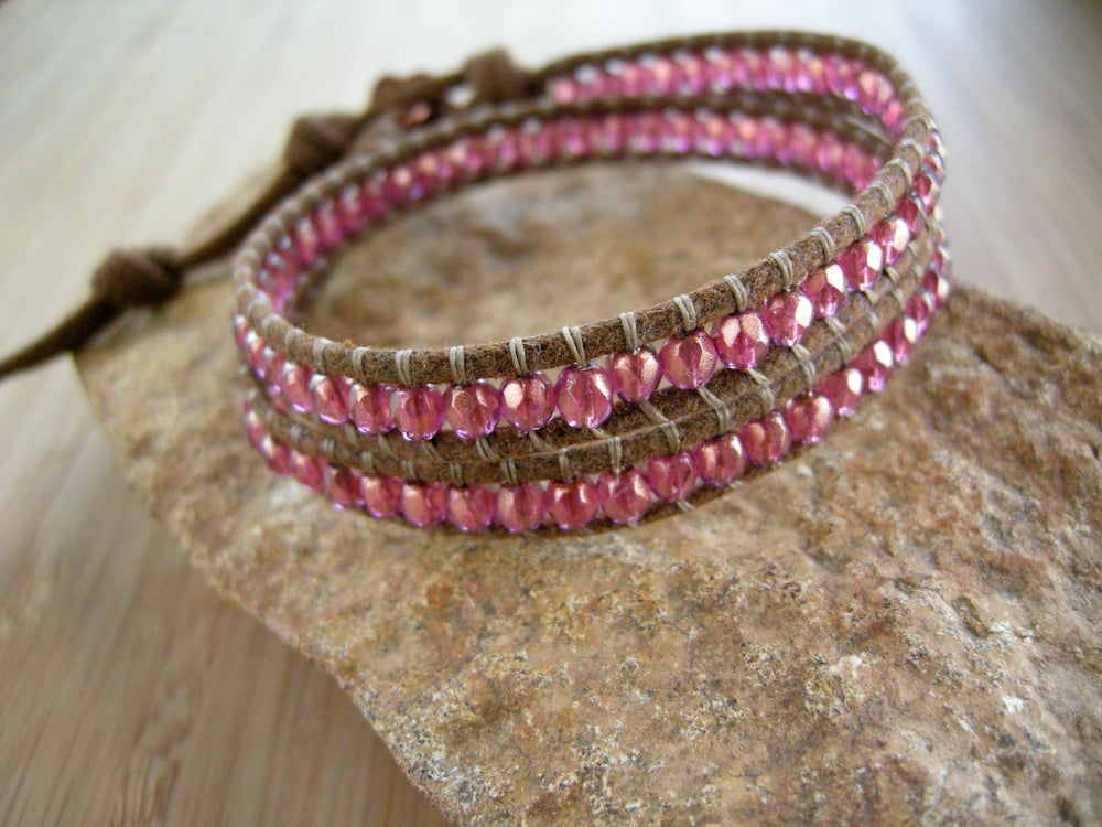 Image of Czech Bead Double Wrap Bracelet