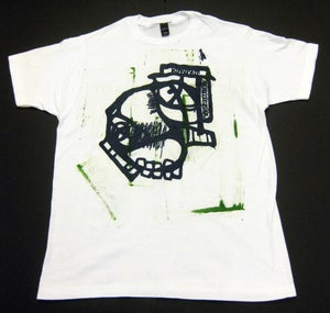 """Image of MJL """"Abstract Kelly Round Face Guy"""" White T-Shirt"""