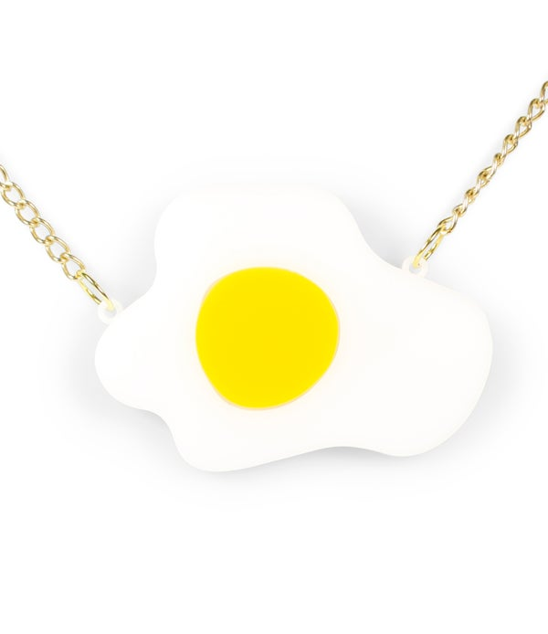 Fried Egg Necklace  - Black Heart Creatives