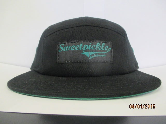 Image of 5 panel - black and forest green