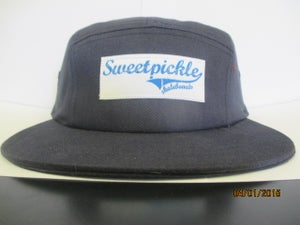 Image of 5 panel - navy blue and white (skateboard logo )