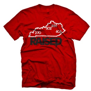 """Image of KY Raised """"Limited Edition"""" State Tee in Red / White / Black"""