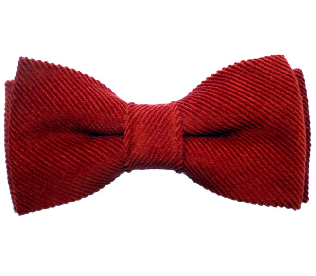 Image of Burgundy Corduroy Bow tie