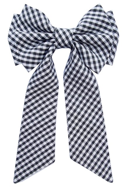 Image of Lavalliere Gingham bow tie