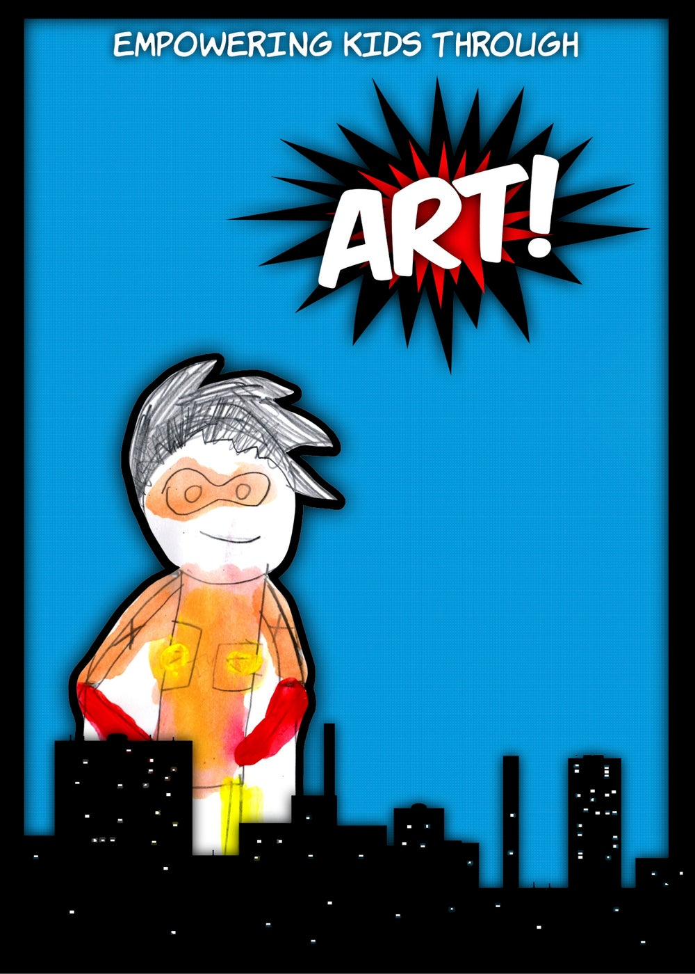 Image of Art Superhero Greeting Card