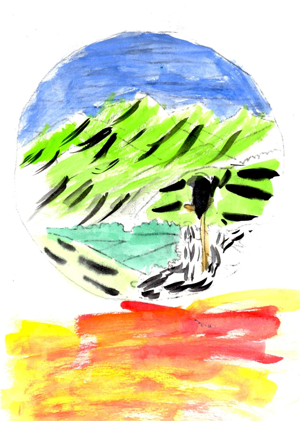 Image of Abstract Landscape Greeting Card