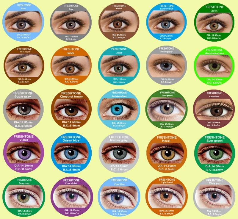 Image of iColored contacts