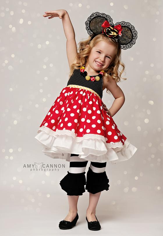 Image of Mouseketwirl Chloe Double Layered Top
