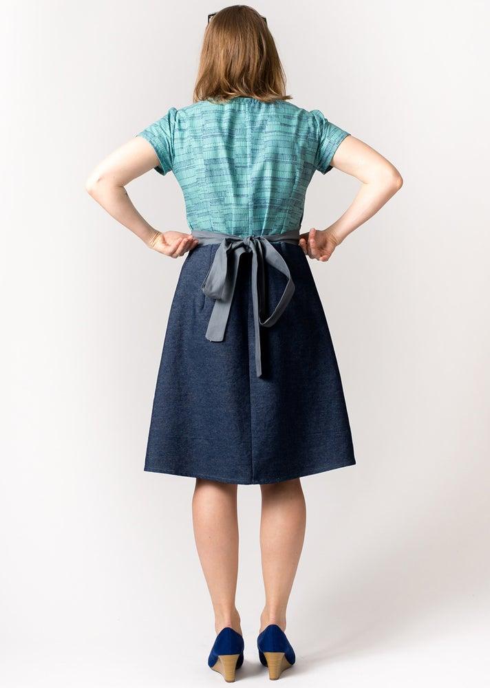 Image of FARMHOUSE DRESS: Linear Ladder Print