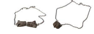 Image of owl-tiger necklace- concrete jewelry / modern / cement