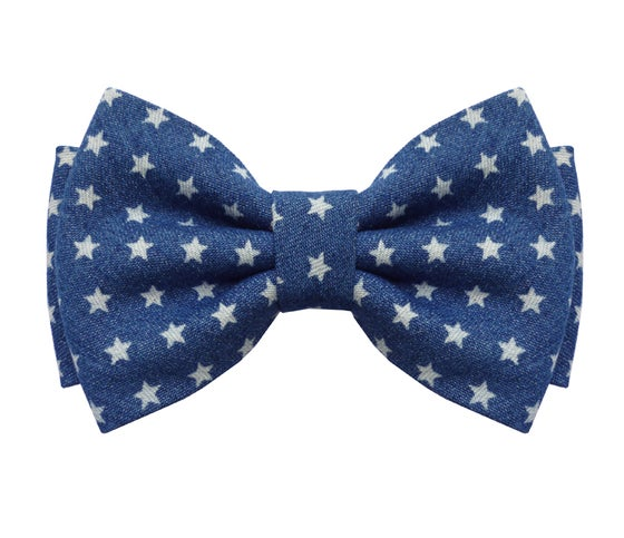 Image of Stars Denim Bow tie