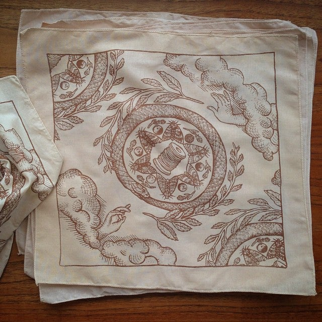 Image of Fortuna Tea Stained Hanky
