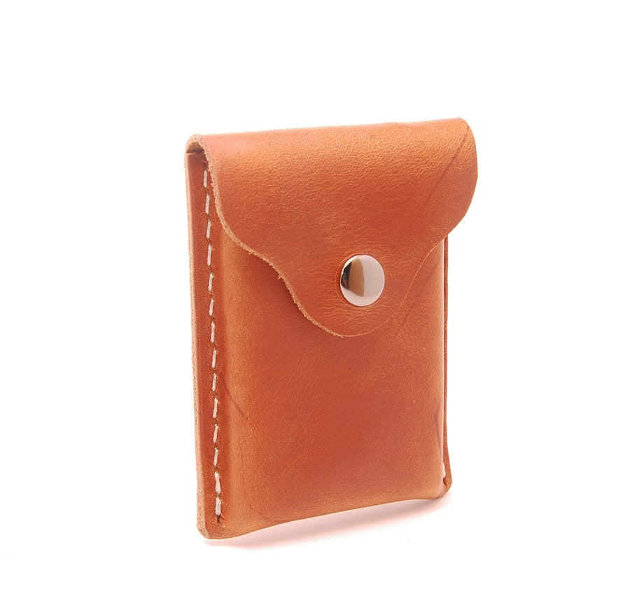 Image of New Haven Leather Business Card Holder