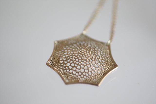 Image of Snowflake Pendant, double chain
