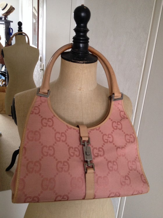 Image of Sac GUCCI toile et cuir