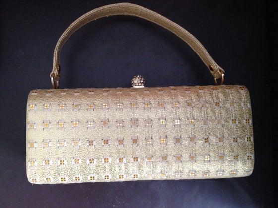 Image of Petit sac du soir - minaudière dorée