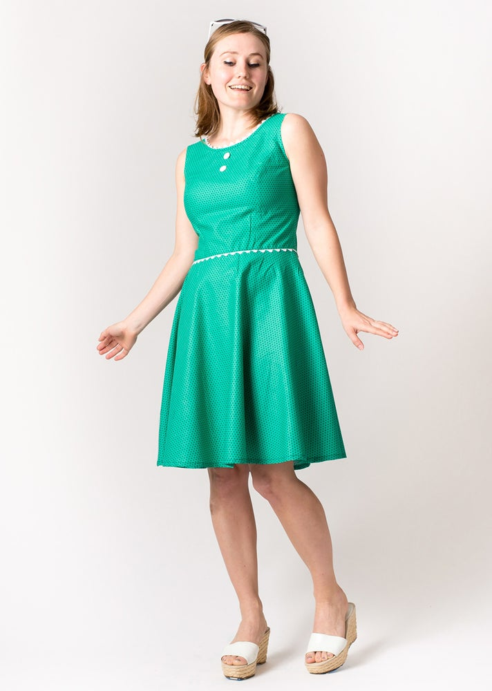 Image of COCO PARTY DRESS: Green Polka Dot