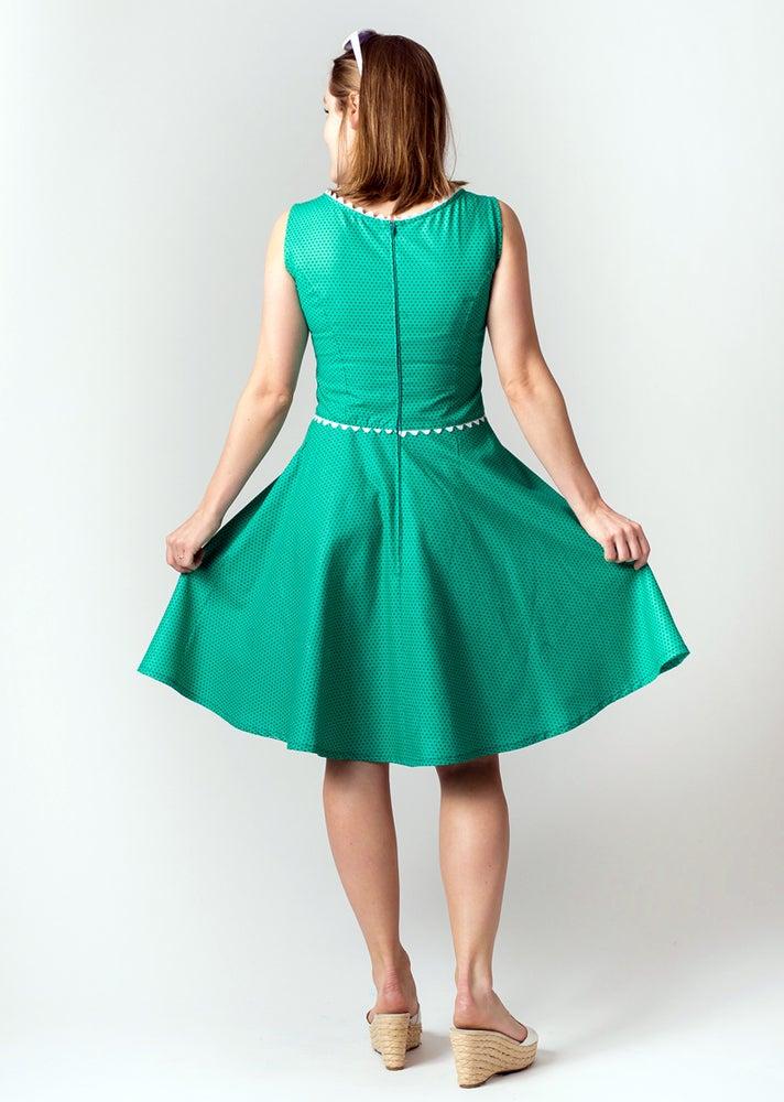 Image of COCO PARTY DRESS: Green Polka Dot
